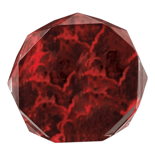 Red marble octagon acrylic.