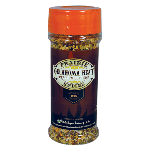Oklahoma Heat spice bottle.