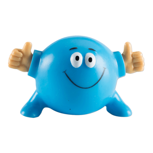 Blue Poppin Pal giving two thumbs up.