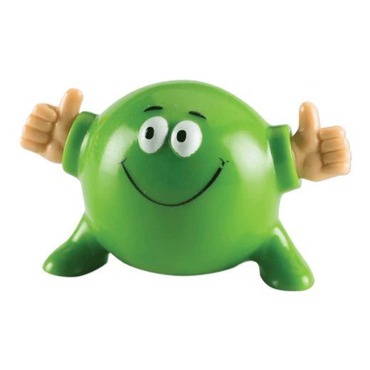 Green Poppin Pal giving two thumbs up.