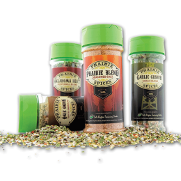 Four Prairie Spices bottles.