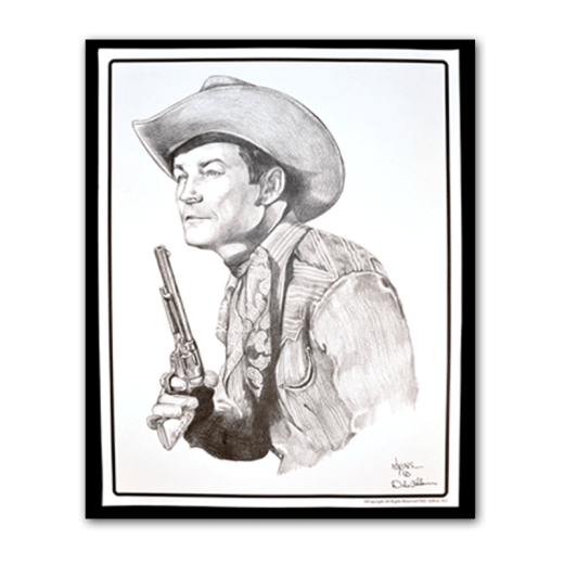 Poster drawing of Roy Rogers.