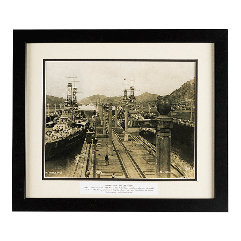 Framed USS Oklahoma & Arizona | Dale Rogers Training Center