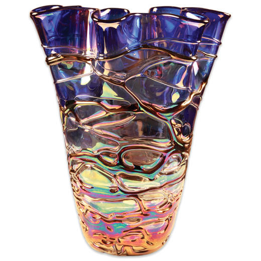 """14"""" Art Glass Vase with no base."""