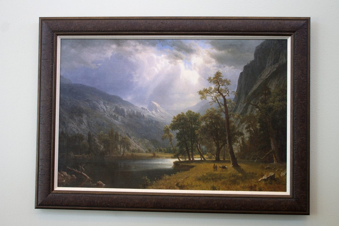 Painting framed by Wyman Frame, hung at OK Pharmacy board.