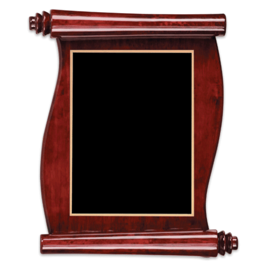 Blank piano finish rosewood plaque.