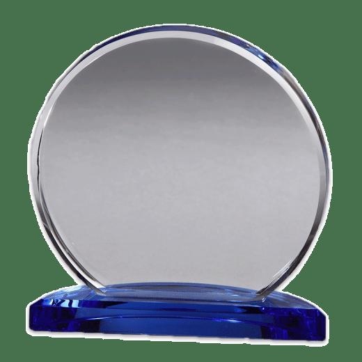 Blank Round Corona crystal award.