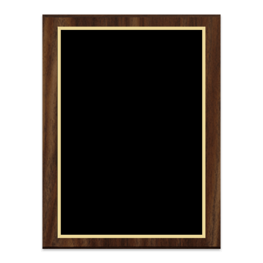 Blank Simulated Walnut Plaque.