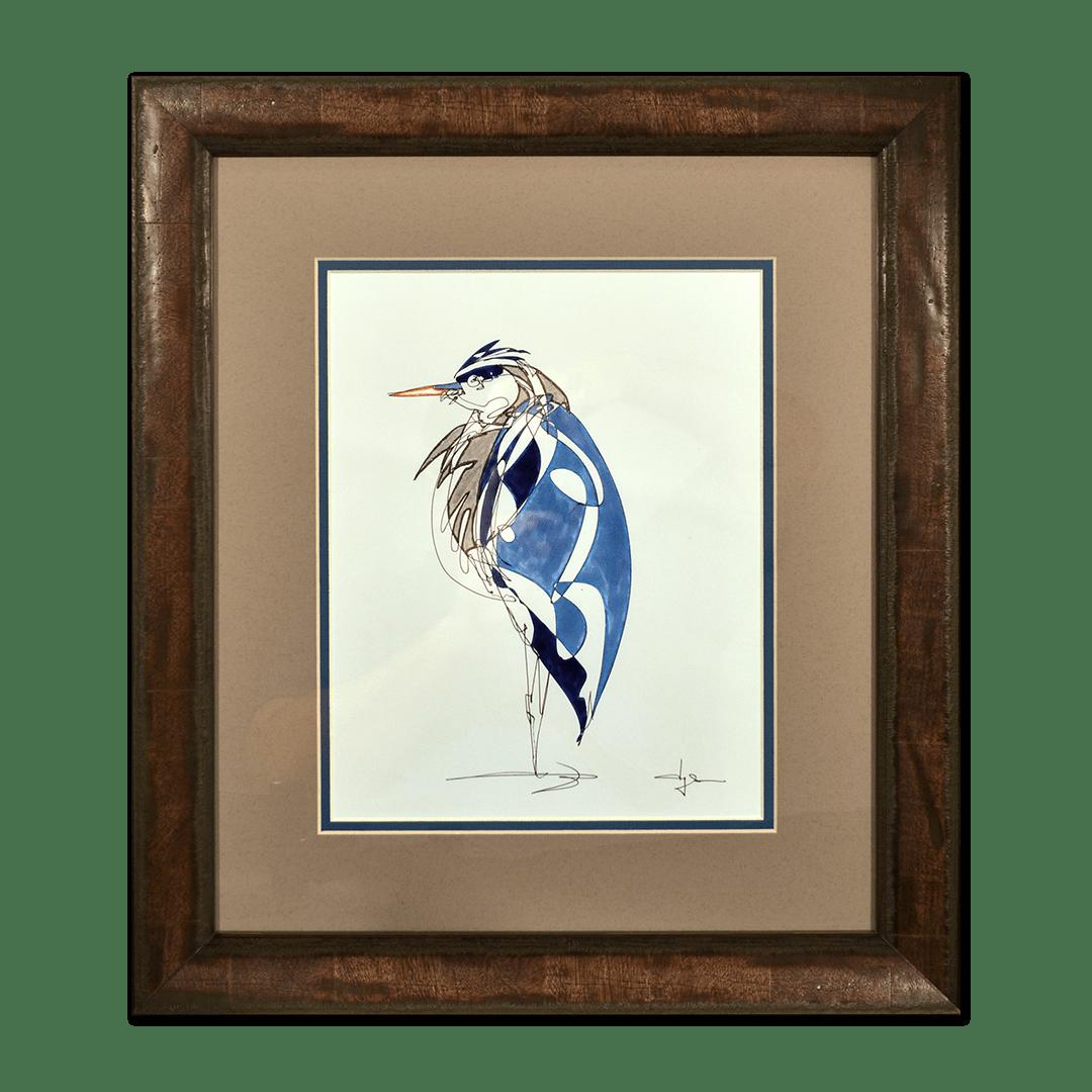 Framed artwork.