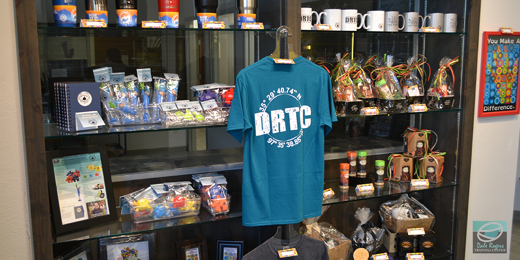 DRTC Gift Shop items on display.