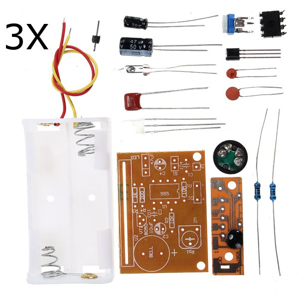3Pcs DIY Touch Vibration Alarm Kit Electronic Training Teaching 1