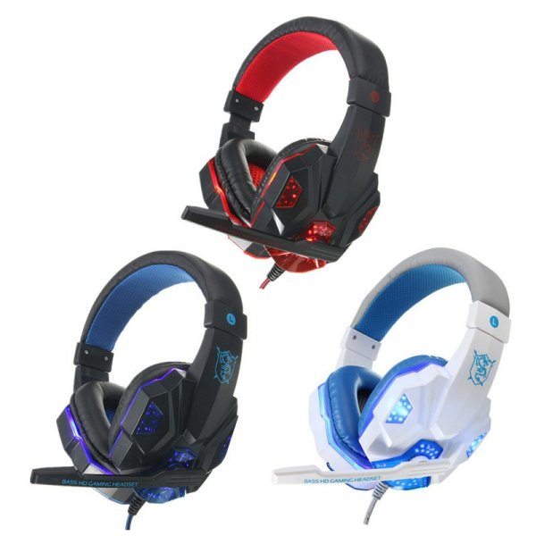 USB 3.5mm LED Surround Stereo Gaming Headset Headbrand Headphone With Mic 1