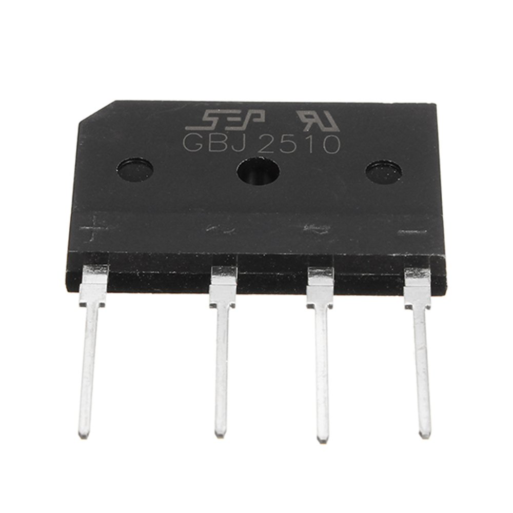 25A 1000V Diode Rectifier Bridge GBJ2510 Power Electronic Components For  DIY Projects