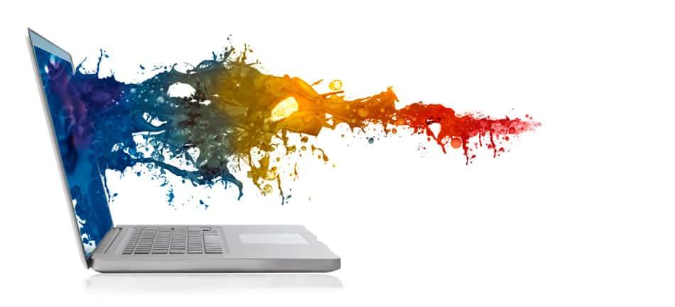 Kreatives Arbeiten in unserer Druckerei.