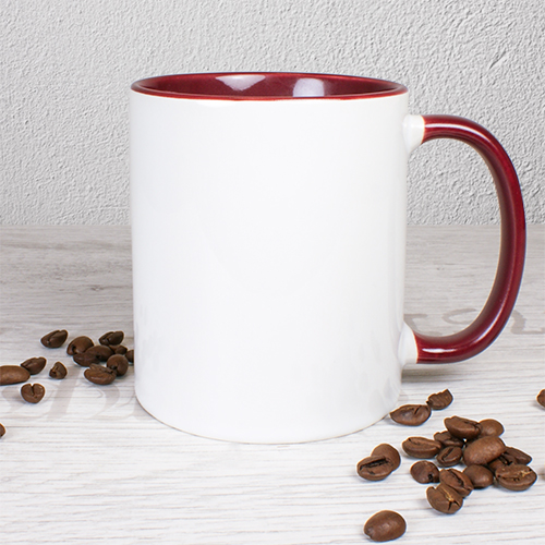 Keramiktasse TWO TONES & HANDLE 11oz