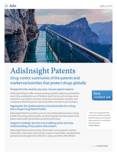 AdisInsight DrugPatentWatch Partnership