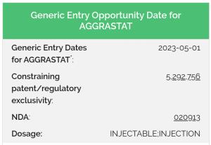 generic drug launch date