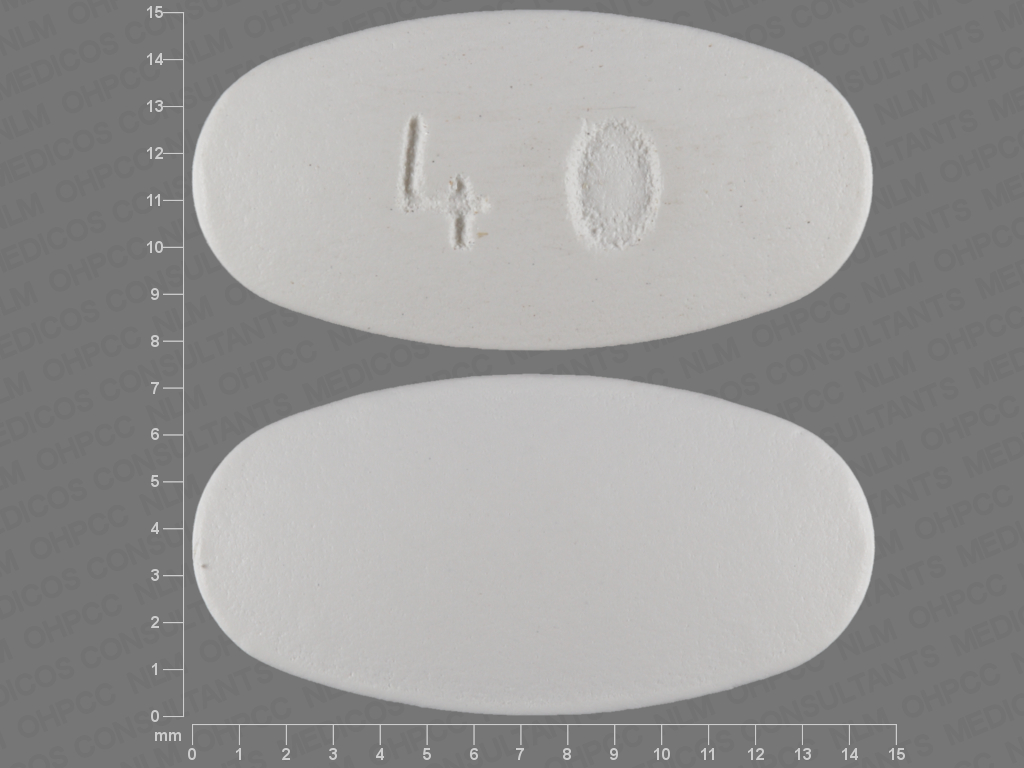 40 pill images white elliptical oval