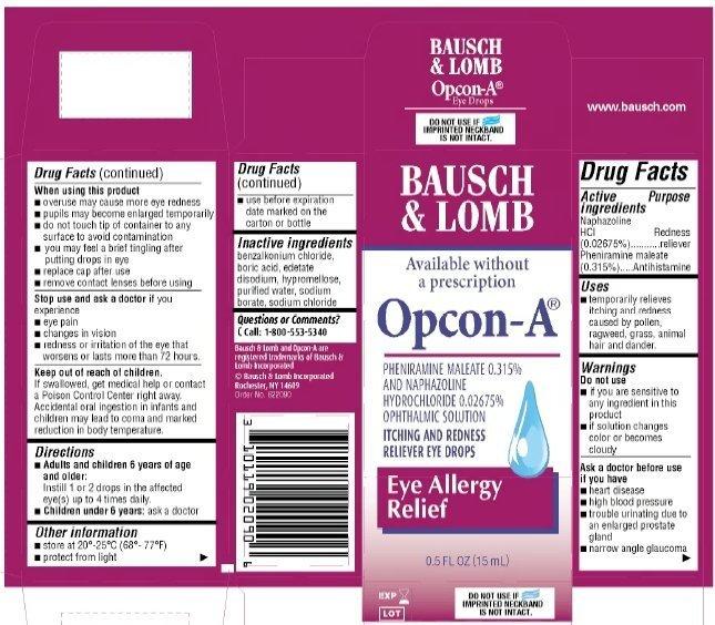 Opcon-A Eye Drops - FDA prescribing information, side effects and uses