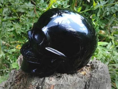 Obsidian Kristallschädel