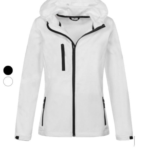 hooded shell softshell jack jas vrouwen dames bedrukken drukken drukt bedrukt print logo bedrijfskleding drukmeshirtje drukjeshirtje