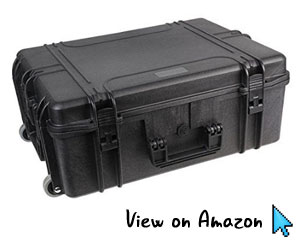 Duratool Water Resistant Case with Wheels and Foam Insert