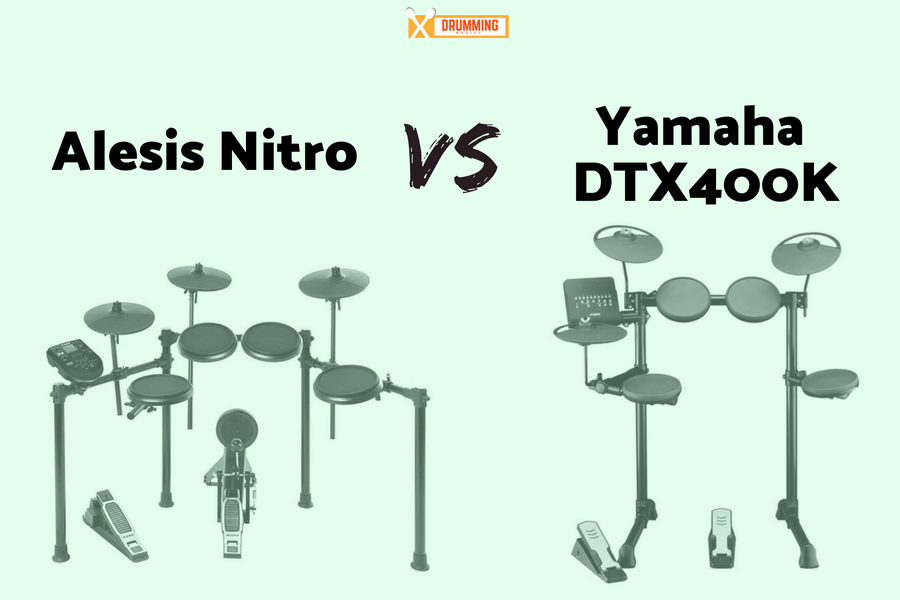 Alesis Nitro vs Yamaha DTX400K
