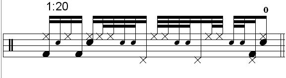 """Gavin Harrison"" - (Porcupine Tree) Drum Beat Video Drum Lesson Notation Chart Transcription Sheet Music Drum Lesson"