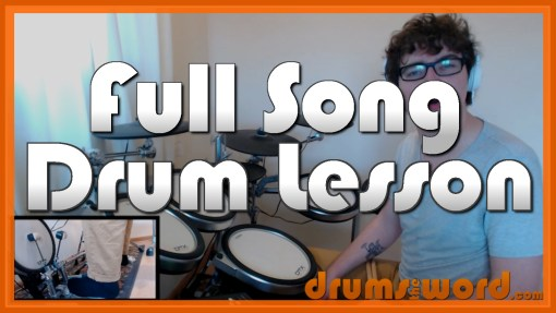 """Aneurysm"" - (Nirvana) Full-Song Video Drum Lesson Notation Chart Transcription Sheet Music Drum Lesson"