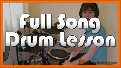 """Back In Black"" - (AC/DC) Full-Song Video Drum Lesson Notation Chart Transcription Sheet Music Drum Lesson"