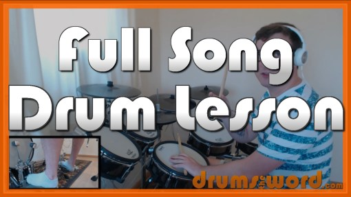 """Break On Through"" - (The Doors) Full-Song Video Drum Lesson Notation Chart Transcription Sheet Music Drum Lesson"