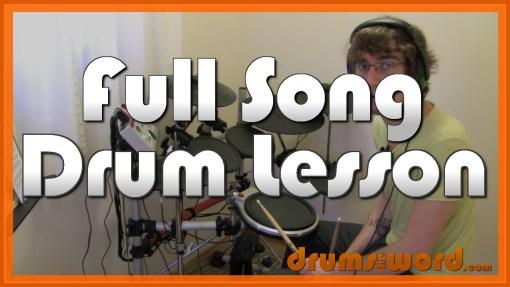 """Brianstorm"" - (Arctic Monkeys) Full-Song Video Drum Lesson Notation Chart Transcription Sheet Music Drum Lesson"