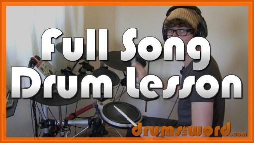 """Creep"" - (Radiohead) Full-Song Video Drum Lesson Notation Chart Transcription Sheet Music Drum Lesson"
