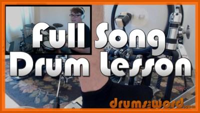 """Heart Of Glass"" - (Blondie) Full-Song Video Drum Lesson Notation Chart Transcription Sheet Music Drum Lesson"