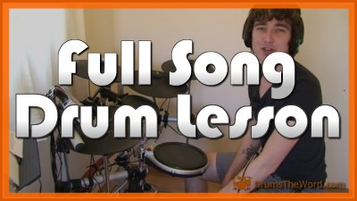 """Honky Tonk Woman"" - (The Rolling Stones) Full-Song Video Drum Lesson Notation Chart Transcription Sheet Music Drum Lesson"