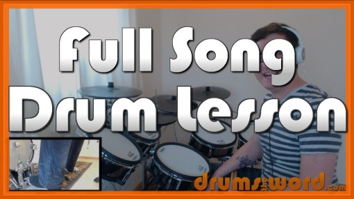 """""""Just"""" - (Radiohead) Full-Song Video Drum Lesson Notation Chart Transcription Sheet Music Drum Lesson"""