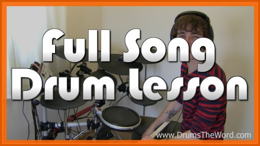 """""""Learn To Fly"""" - (Foo Fighters) Full-Song Video Drum Lesson Notation Chart Transcription Sheet Music Drum Lesson"""