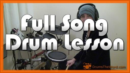 """Lithium"" - (Nirvana) Full-Song Video Drum Lesson Notation Chart Transcription Sheet Music Drum Lesson"
