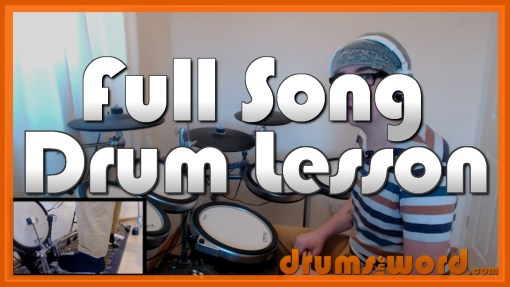 """My Sharona"" - (The Knack) Full-Song Video Drum Lesson Notation Chart Transcription Sheet Music Drum Lesson"