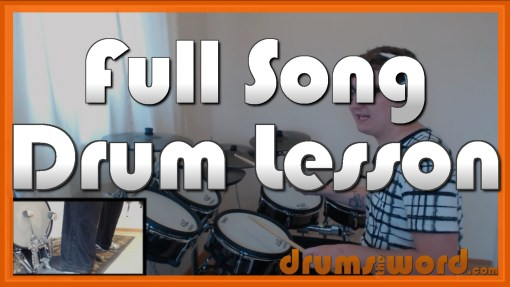 """Place Your Hands On Me"" - (Reef) Full-Song Video Drum Lesson Notation Chart Transcription Sheet Music Drum Lesson"