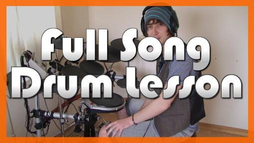 """The Rock Show"" - (Blink 182) Full-Song Video Drum Lesson Notation Chart Transcription Sheet Music Drum Lesson"