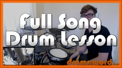 """Sex On Fire"" - (Kings Of Leon) Full-Song Video Drum Lesson Notation Chart Transcription Sheet Music Drum Lesson"