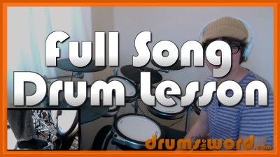 """""""Smoke On The Water"""" - (Deep Purple) Full-Song Video Drum Lesson Notation Chart Transcription Sheet Music Drum Lesson"""