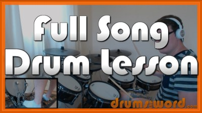"""Summer of '69"" - (Bryan Adams) Full-Song Video Drum Lesson Notation Chart Transcription Sheet Music Drum Lesson"