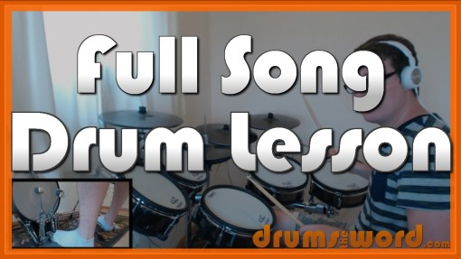 """""""Summer of '69"""" - (Bryan Adams) Full-Song Video Drum Lesson Notation Chart Transcription Sheet Music Drum Lesson"""