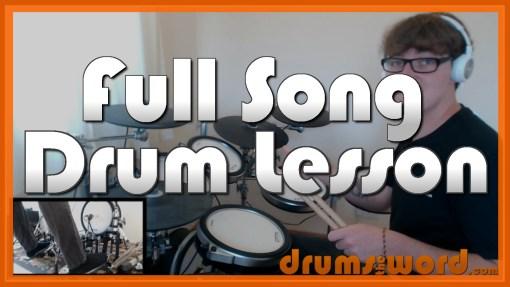 """Under Pressure"" - (Queen) Full-Song Video Drum Lesson Notation Chart Transcription Sheet Music Drum Lesson"