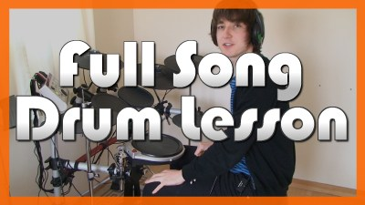 """""""Use Somebody"""" - (Kings Of Leon) Full-Song Video Drum Lesson Notation Chart Transcription Sheet Music Drum Lesson"""