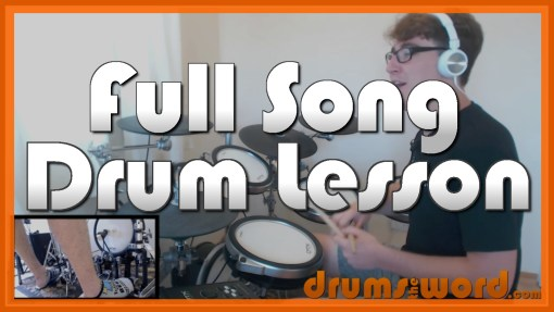 """Walk This Way"" - (Aerosmith) Full-Song Video Drum Lesson Notation Chart Transcription Sheet Music Drum Lesson"