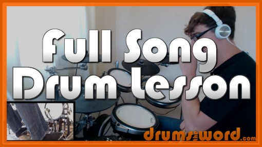 """""""Walk"""" - (Foo Fighters) Full-Song Video Drum Lesson Notation Chart Transcription Sheet Music Drum Lesson"""