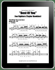 Sample Drum Chart - DrumsTheWord.com